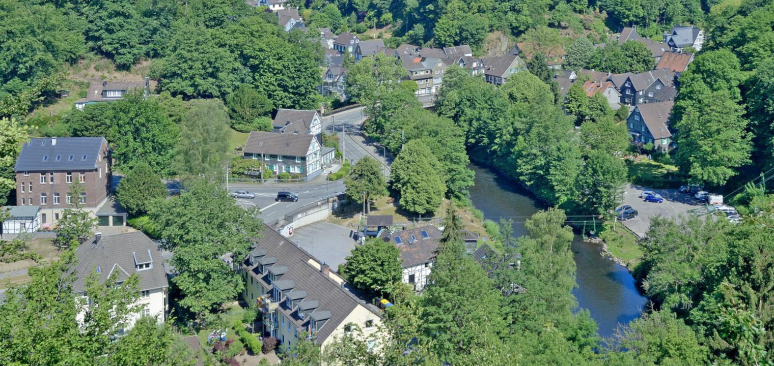 Solingen-Unterburg im Bergischen Land an der Wupper
