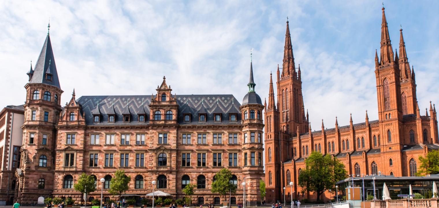 Neues Rathaus Marktkirche Wiesbaden