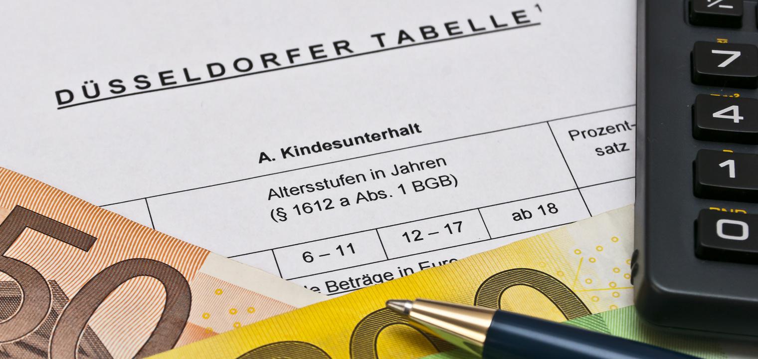 Düsseldorfer Tabelle 2019: Unterhaltstabelle & Berechnung