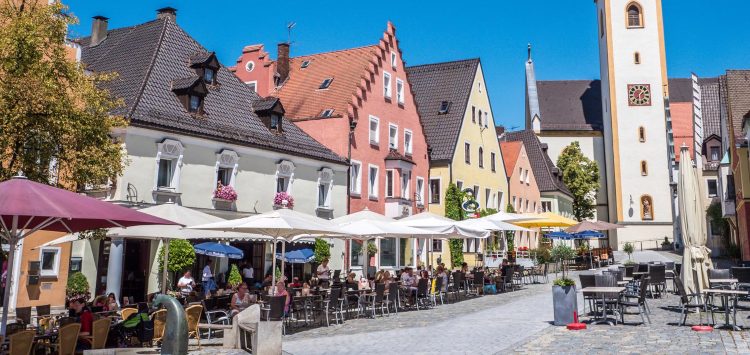 Marktplatz in Schwandorf in der Oberpfalz