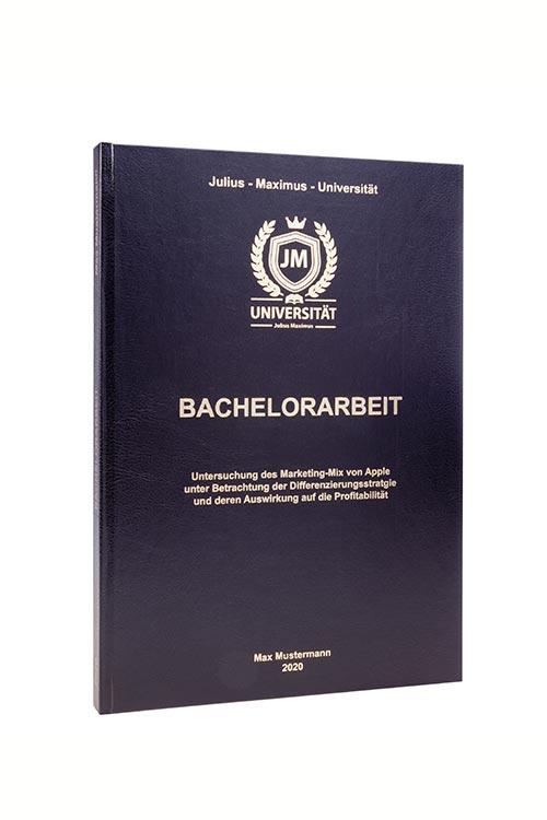 Bachelorarbeit binden im Standard Hardcover