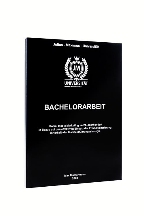 Bachelorarbeit binden in der Magazinbindung