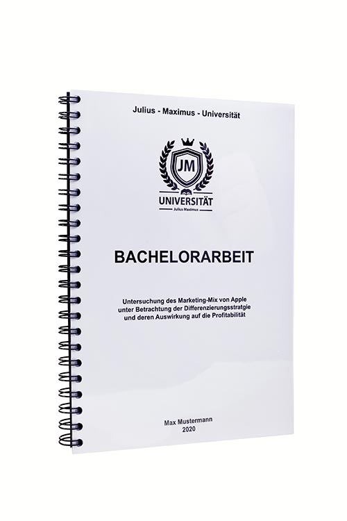 Bachelorarbeit binden in der Spiralbindung
