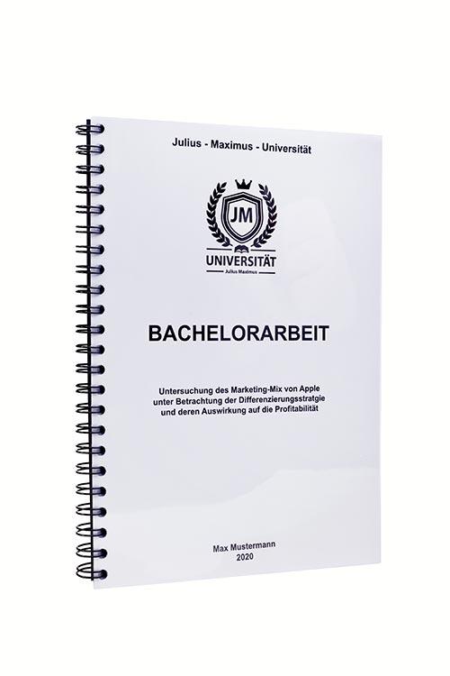 Bachelorarbeit binden in der Spiralbindung